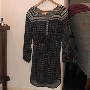 Long-sleeve Anthropologie tie-waist dress, Size M
